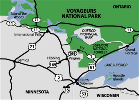 area maps crane lake & voyageurs national parkvisit