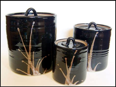 black kitchen canister black canister sets for kitchen
