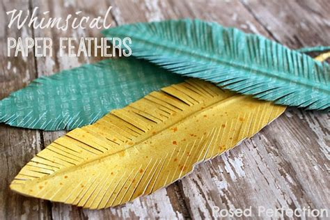 Paper Feathers - posed perfection whimsical paper feathers