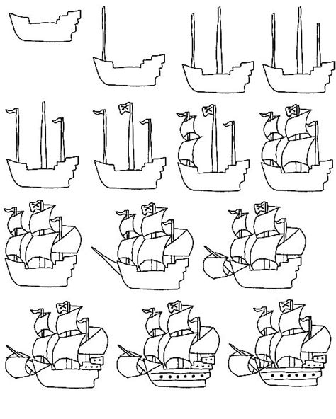 how to draw a pirate ship doodle 25 best ideas about pirate ship drawing on