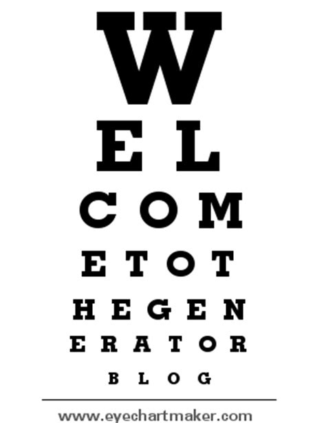 printable custom eye chart the generator blog custom eye chart maker