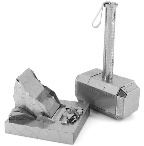 mjolnir thor s hammer metal earth 3d model puzzle