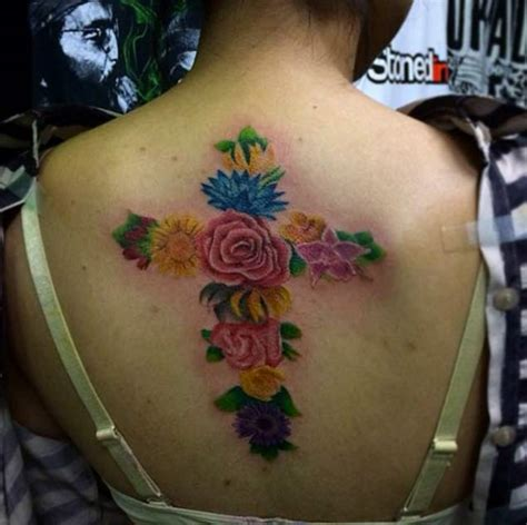 flower cross tattoo designs 60 heartwarming christian designs and ideas
