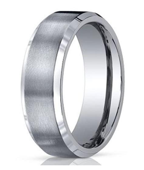 mens titanium wedding band satin finish