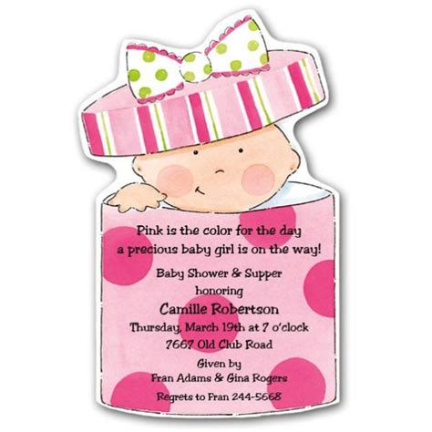 baby in gift box boy diecut shower invitations paperstyle