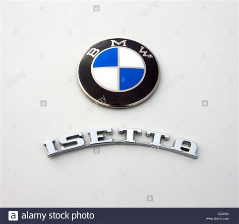 bmw vintage logo vintage bmw isetta bubble car logo badge stock photo