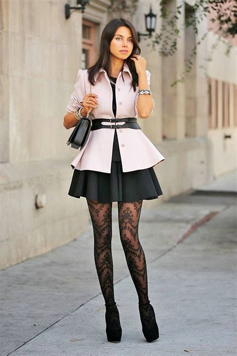 patterned tights black dress 11 best images about medias y outfits on pinterest