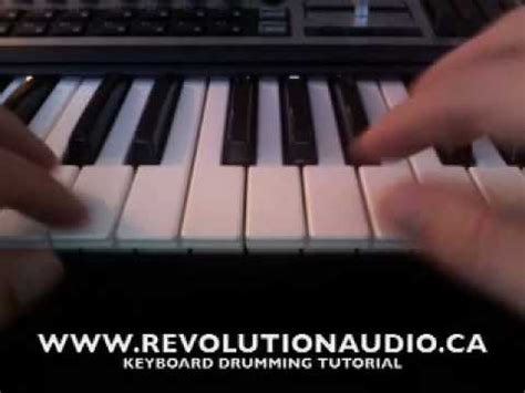 tutorial how to keyboard drum how to play keyboard drums midi drum tutorial youtube