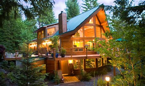 blackcomb post and beam retreats cottages cedar home plans