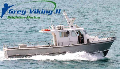 deep sea fishing boat trips brighton charter fishing grey viking sea fishing boat