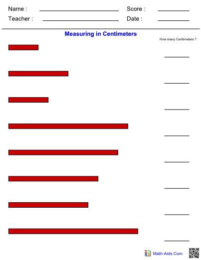 Measuring In Centimeters Worksheet