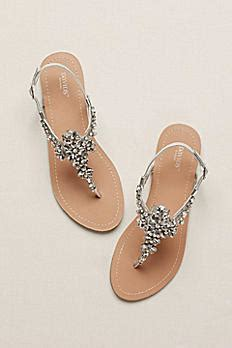 Flat Dress Sandals For Weddings by Jeweled T Sandal Gemma