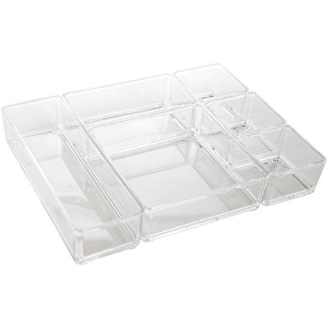 Arad Clear Acrylic Office Tool Craft Organizer Set Desk Acrylic Desk Organizer Set