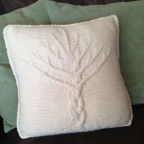 tree of knit pattern tree of pillow cover