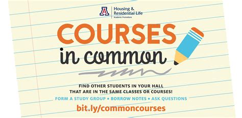 ua housing portal courses in common housing residential life