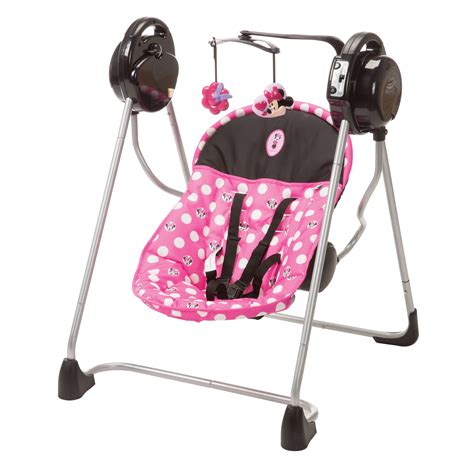 minnie mouse baby swing disney sway n play swing minnie dot