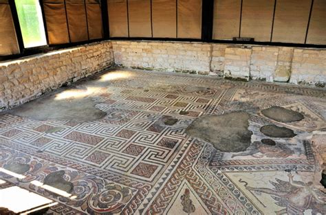 Living Room And Dining Room by Chedworth Roman Villa
