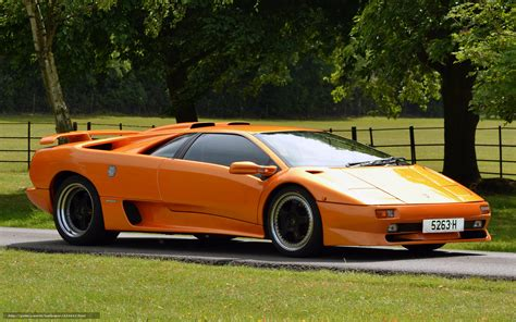 Lamborghini Diablo Orange Wallpaper Lambo Diablo Tuning Orange Free