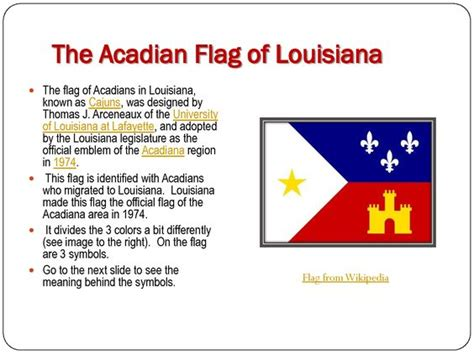 the acadian flag of louisiana i live in acadiana and this