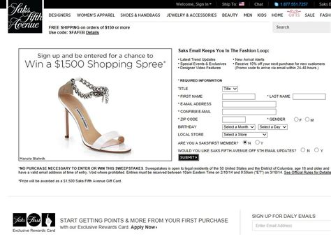 Win A 3000 Saks Shopping Spree by Saks Fifth Avenue Win A 1 500 Shopping Spree Sweepstakes