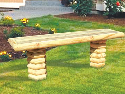Landscape Timber Bench Free Plans Timber Bench Furniture Plan 097d 0023 House Plans And More
