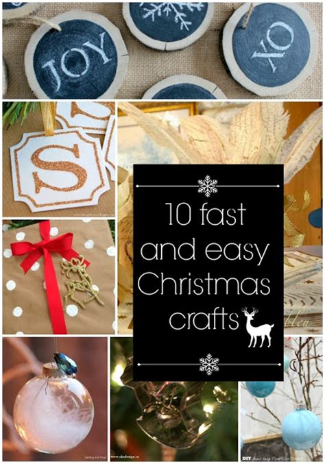 fast and easy christmas crafts the golden sycamore