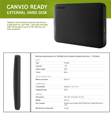 Toshiba Canvio Basics 1tb Portable Drive Usb 30 Original toshiba canvio ready basics 3 0 usb portable external drive 1tb black lazada malaysia