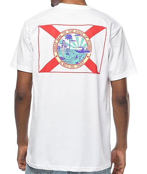 Florida White Shirt local in florida we trust white t shirt