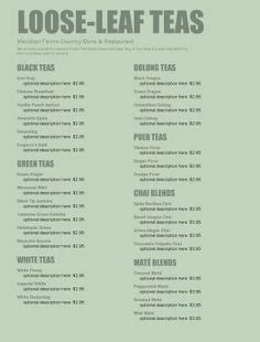 tea menu template 1000 images about caf 233 coffee house on cafe