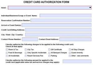 Sle Hotel Credit Card Authorization Form Credit Card Authorization Form Card Not Present Cenpos Credit Card Processing
