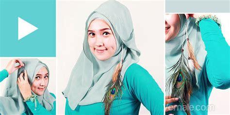 Gaya Berjilbab Segi Empat tutorial segi empat cara memakai jilbab segi empat simple dan praktis