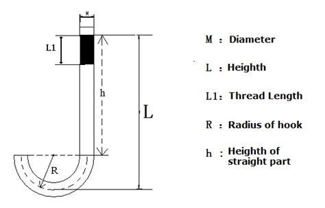 J Bolt Drawing by Manufacturer Of Anchor Bolt J Bolt Hook Bolt Xupu Fasteners