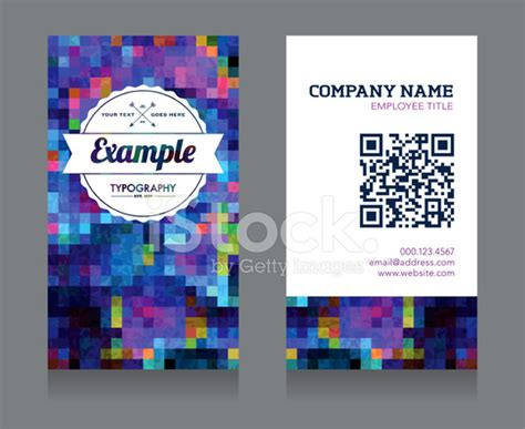 Business Card With Qr Code Template
