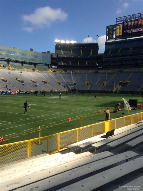 lambeau field section 110 lambeau field section 110 rateyourseats com