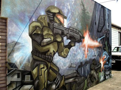 halo wall mural halo mural flickr photo