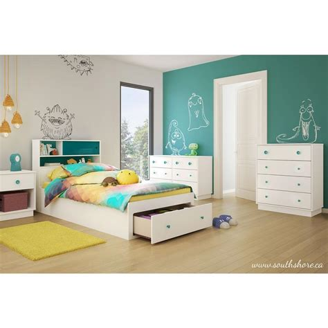 bedroom for 4 kids south shore little monsters twin wood kids storage bed