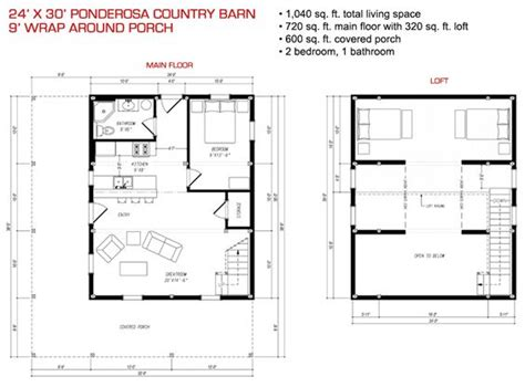 gambrel cabin plans 24x30 floor plan pre designed ponderosa barn home kit