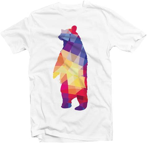 graphic pattern t shirt t shirt bear geometric graphic tee t shirt print