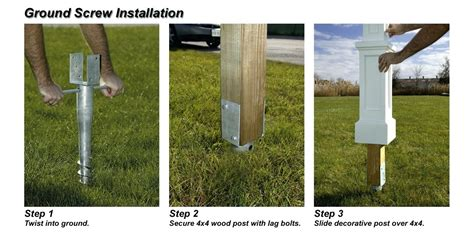 install l post concrete how to install vinyl fencing image of easy way to install