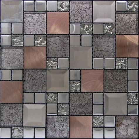 Kaos Mos Classic kaos silver random square pattern glass metal and marble