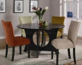 Cappuccino finish modern 5pc dining set w optional color chairs crds