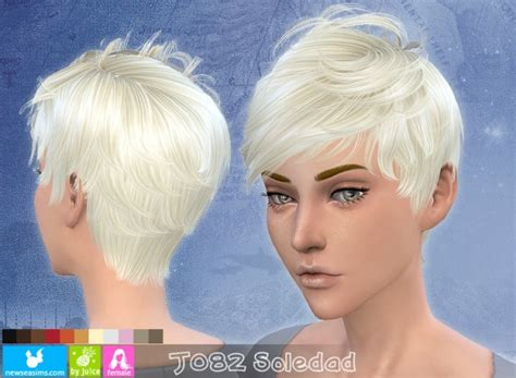 newsea  soledad hairstyle  female sims  downloads