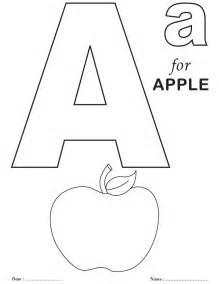 printables alphabet a coloring sheets free