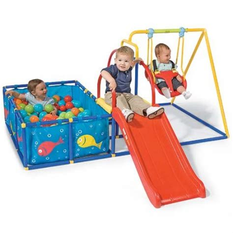 baby swing and slide combo what fun