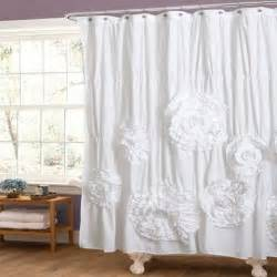 Curtains 187 white ruffled creative shower curtain for english country