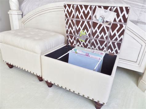 hanging file storage ottoman file storage ottoman be my guest with denise