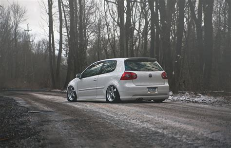Volkswagen Golf Gti Stance Golf Tuning Winter Hd Wallpaper