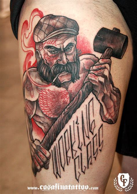 class tattoo designs 15 strong working class inspired tattoos tattoodo
