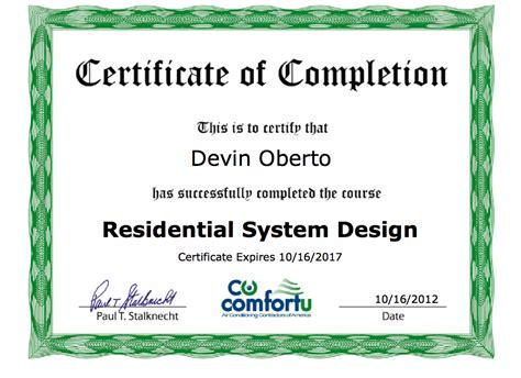 Hvac Design Certificate | atlas air conditioning services winter park fl