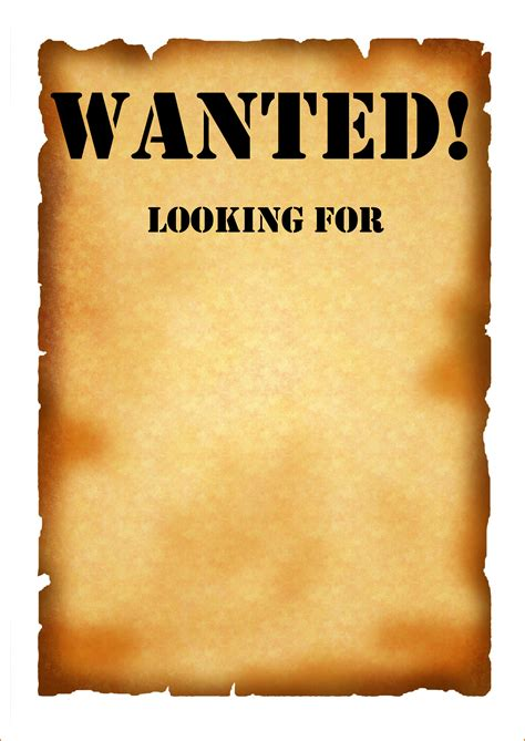 7 Wanted Poster Template Pdf Authorizationletters Org Wanted Poster Template Free Printable